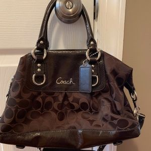 Authentic dark brown Coach bag!